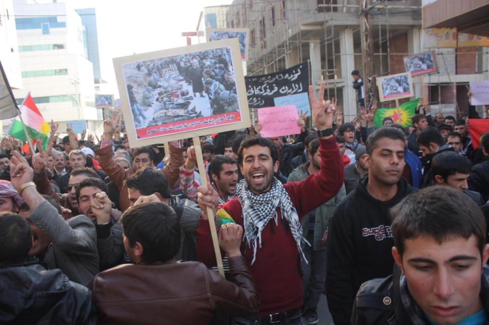 Thousands turned up in the province of Silemani.