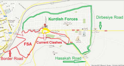 Map of Current Clashes