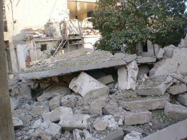 Destruction in Serêkaniyê