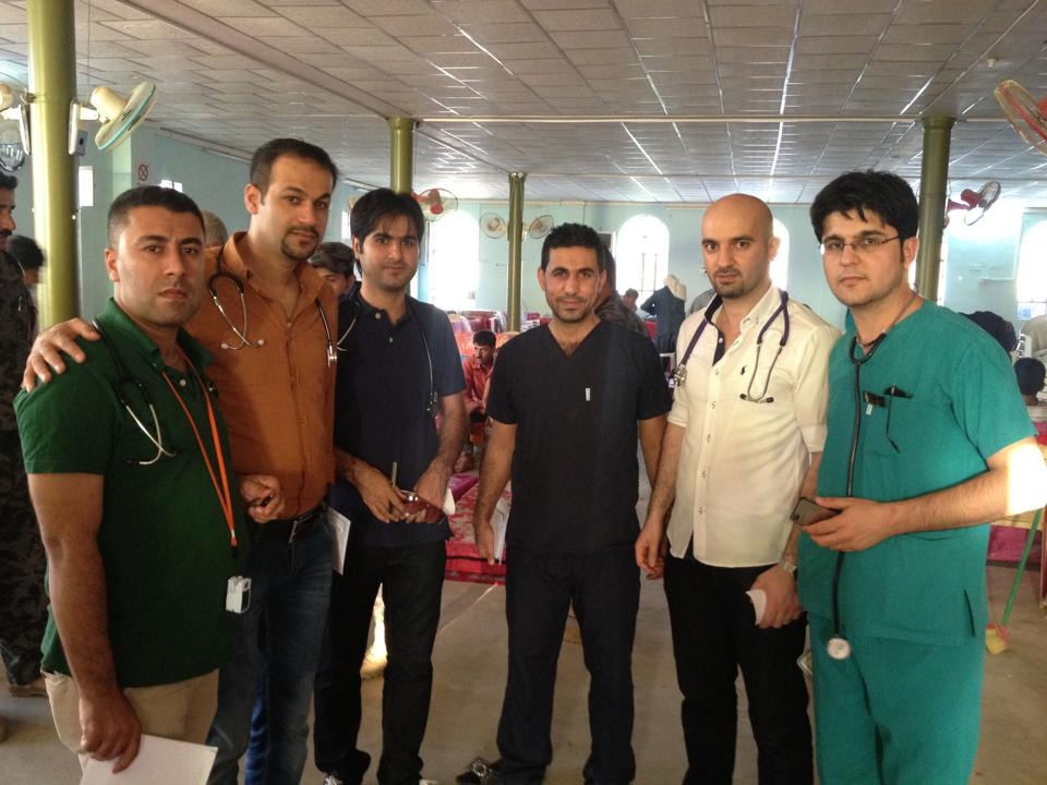 Pictured: Dr. Sarbast Hamid with colleagues