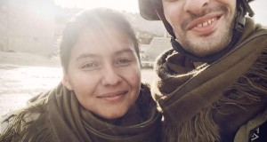 Firat Jacob Tas and Nazê, a Kurdish YPJ fighter in Kobanê