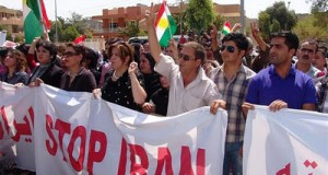 Kurds-in-Iraq-protest-against-Iranian-shelling