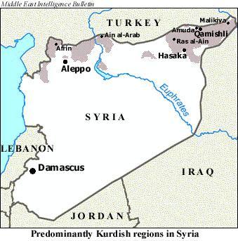 Kurds Take Over More Cities Qamishli Remains Difficult - Qamishli map